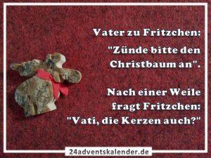 Lustiger Witz mit Fritzchen und Christbaum :D