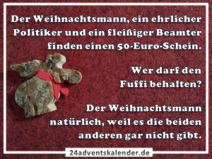 Lustiger Witz mit Weihnachtsmann und Politiker :D