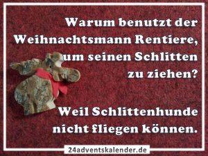 Lustiger Witz mit Weihnachtsmann und Rentiere :D