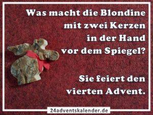Lustiger Witz mit Blondine und Advent :D