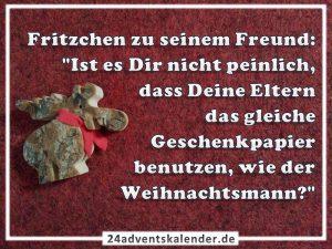 Lustiger Witz mit Fritzchen und Weihnachtsmann :D