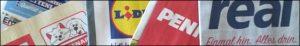Bild - Logos - Prospekte von Fressnapf, Lidl, penny und real.