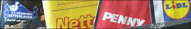 Logo auf Prospekt von Dänisches Bettenlager, Netto, Penny und Lidl