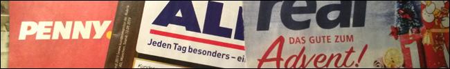 Logos - Prospekte von Penny, aldi und real.