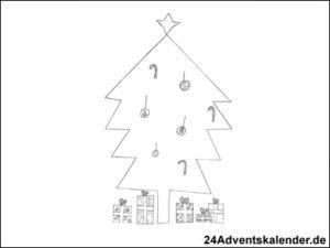 Vorschaubild - Ausmalvorlage - Weihnachtsbaum