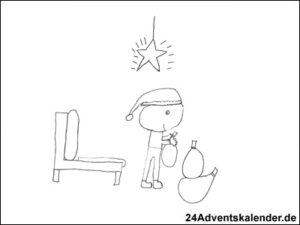 Vorschaubild - Ausmalvorlage - Weihnachtsmann